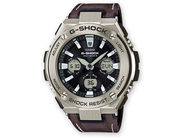 CASIO G-SHOCK GST-W130L-1AER Watch Men black silver/white black